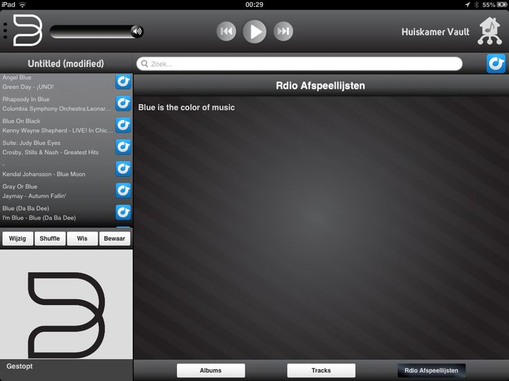 My Blue playlist imported from #spotify into #Bluesound #Vault using resp.in, very convenient indeed