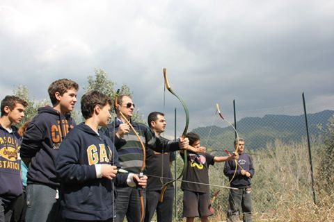 Archery lessons at Eleonas Hotel!