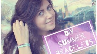DIY summer bracelets Летние браслеты OutInBeauty - YouTube