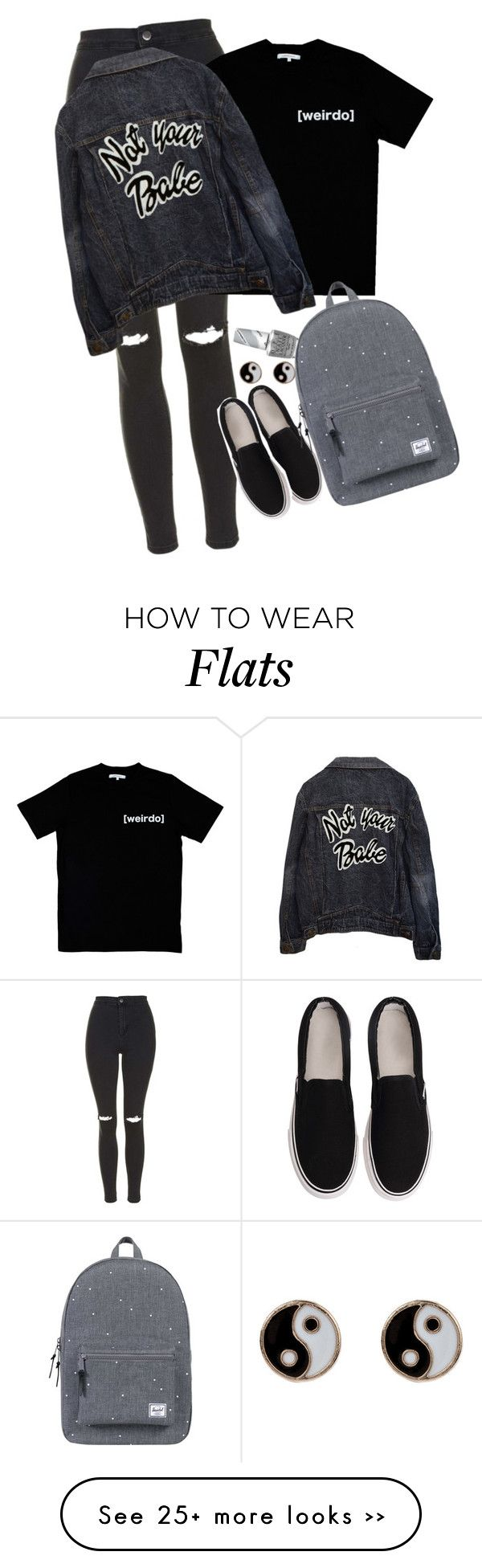 """""""Untitled #138"""" by thefriendlypsychopath on Polyvore featuring Topshop, Illustrated People, Accessorize, OPI and Herschel Supply Co."""