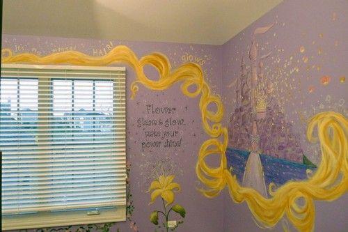 Great little girls room. Rapunzel