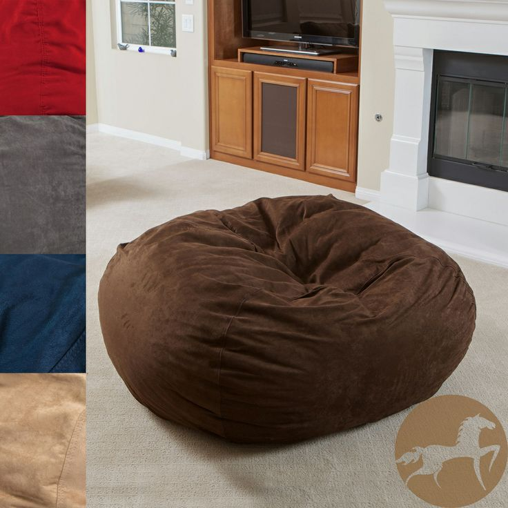 Relax in comfort and style with this faux-suede bean bag from Christopher Knight. This five-foot chair is perfect when you need extra seating. The environmentally friendly bean-bag chair is kid-friendly and easily movable from room to room.