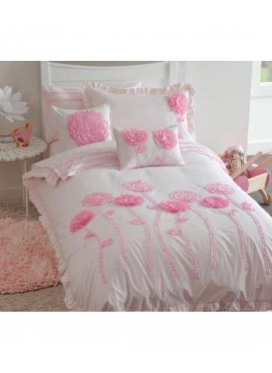 HOUSSE DE COUETTE fleur rose