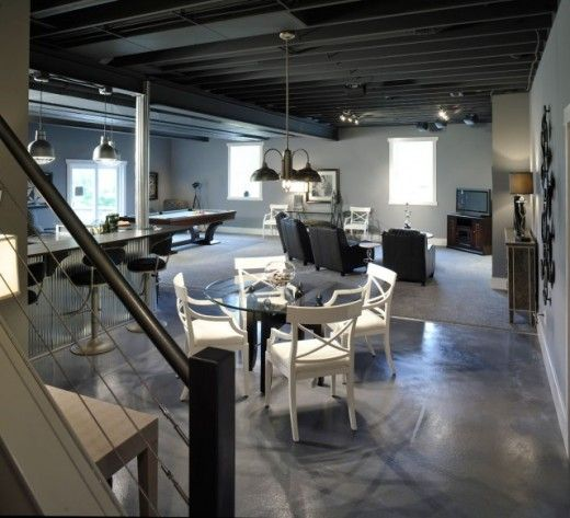 contemporary basement for game area 520x473 basement game on smart man cave basement ideas id=88630