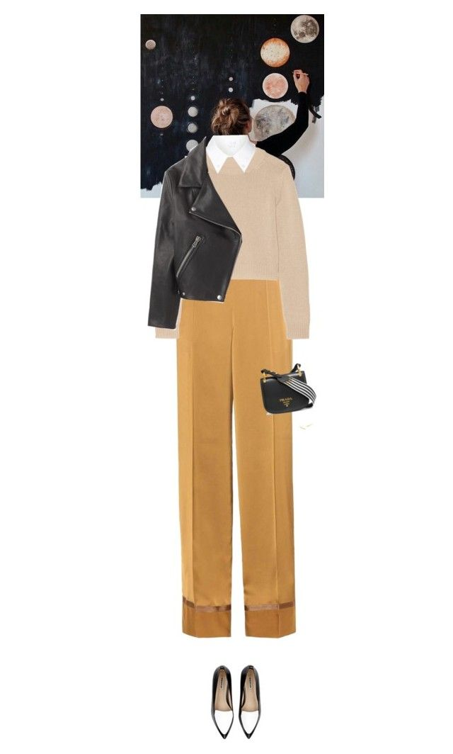 """""""Outfit of the Day"""" by wizmurphy ❤ liked on Polyvore featuring Maison Margiela, Miu Miu, Whistles, Prada, Alexander Wang, Gorjana, Acne Studios, ootd and pajamaparty"""