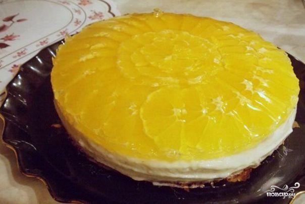 Апельсиновое желе для торта