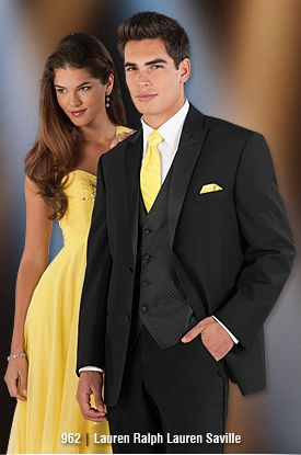 Matching Yellow Tie, Tuxedo Fashion