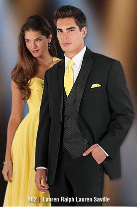 Matching Yellow Tie, Tuxedo Fashion