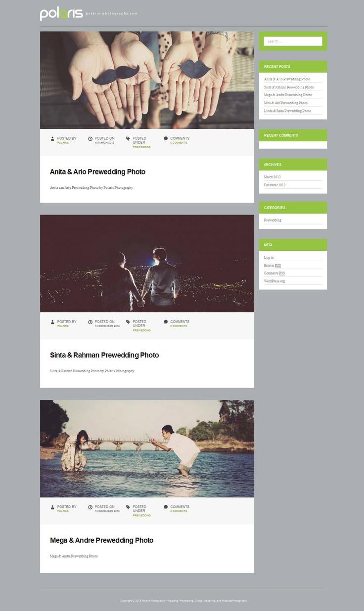 Polaris Photography web design, layout, theme.