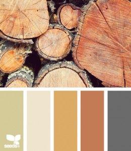 colori caldi ispirazione legno per bagno