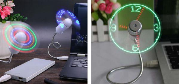 Необычные светодиодные мини-вентиляторы, работающие от USB