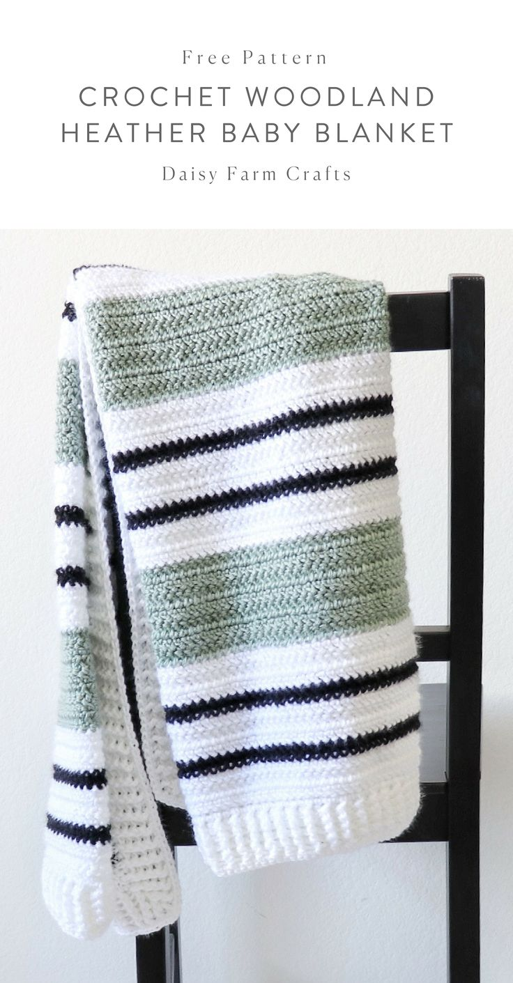 Kostenlose Anleitung – Crochet Woodland Heather Baby Blanket   – Crochet blankets