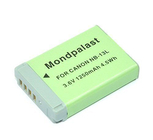 Mondpalast Replacement Battery Li-ion type NB13L 1250mah 3.6V with infochip for Canon PowerShot N100, Canon PowerShot G7X G7 X g7x G9 X G5 X G9X G5X
