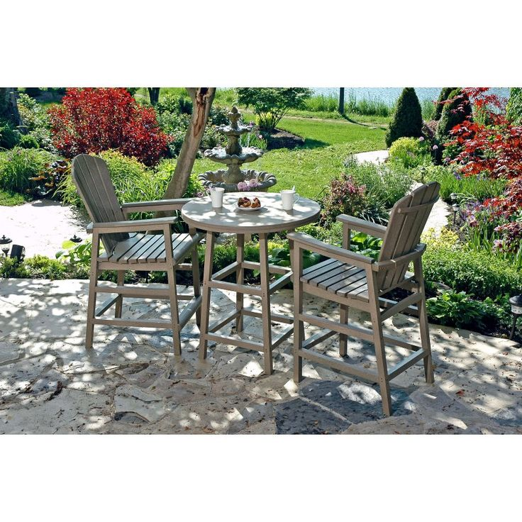 Outdoor CR Plastic Generations 40 in. Round Pub Height Table - TBT13-01, CRPL051