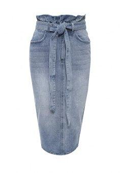 Юбка LOST INK, цвет: синий. Артикул: LO019EWGVO17. Женская одежда / Юбки / Джинсовые юбки