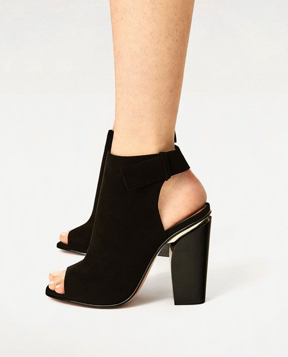 Image 6 of SLINGBACK LEATHER ANKLE BOOTS from Zara