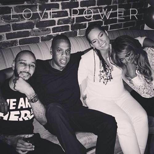 Beyonce, Jay Z, Swizz Beatz & Alicia Keys at Global Citizen Festival September 27th, 2014
