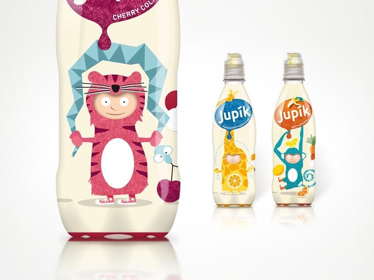 JUPÍK OVOCNÝ | Logotyp a dizajn obalov pre sériu detských nápojov. Klient: Kofola #Slovakia