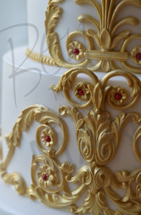 Attention to detail. All hand painted in gold leaf.