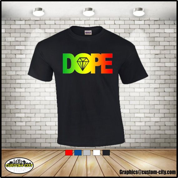 dope diamond shirt,dope rasta shirt, dope shirt,diamond,adult shirts,women men shirt,plus size workout,5x shirts,graphic tees,custom apparel - http://Www.Etsy.com/shop/customcityink