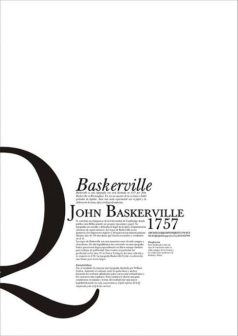 Baskerville font type