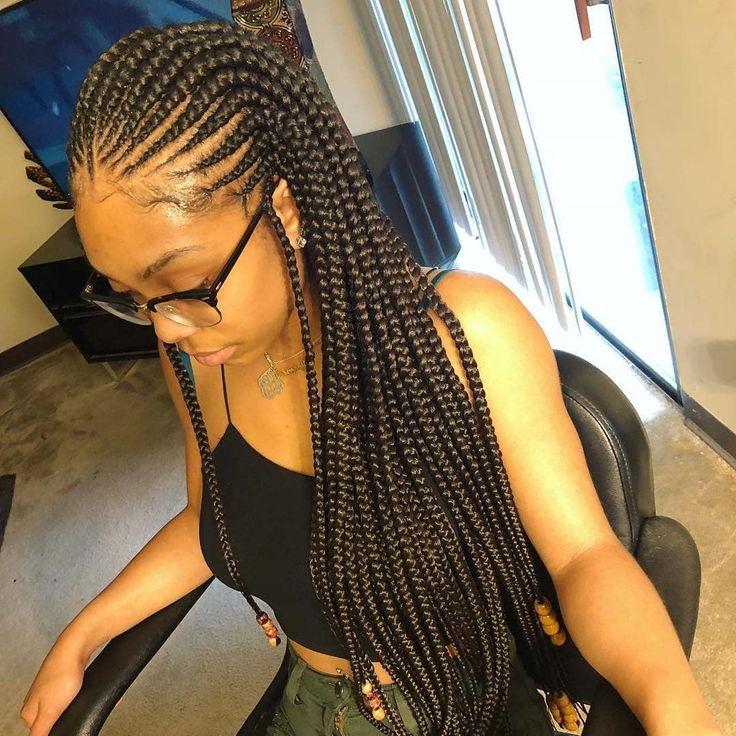 50 Stylish Cornrows Braids for Black Ladies