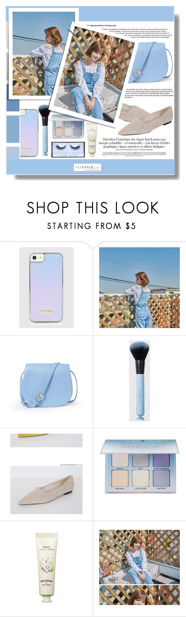 """YesStyle - 10% off coupon"" by clumsy-dreamer ❤ liked on Polyvore featuring Anastasia Beverly Hills, Tony Moly, Huda Beauty, yesstyle, prespring and productAnchor"