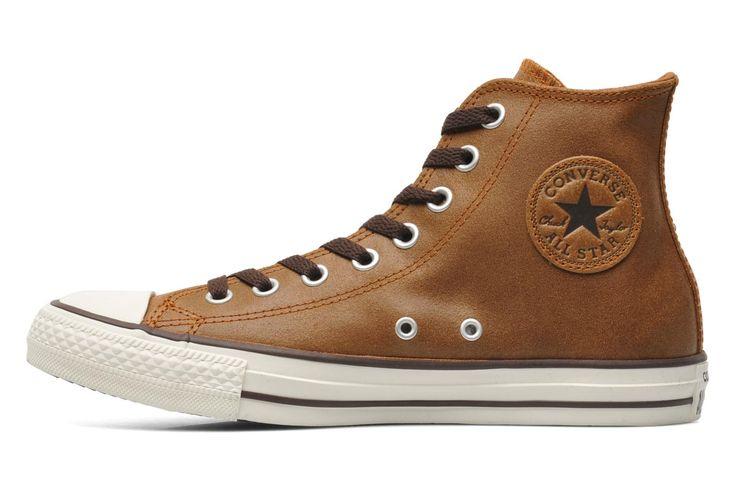 Converse Chuck Taylor All Star Vintage Leather Hi M (Marron) - Baskets chez Sarenza (200932)