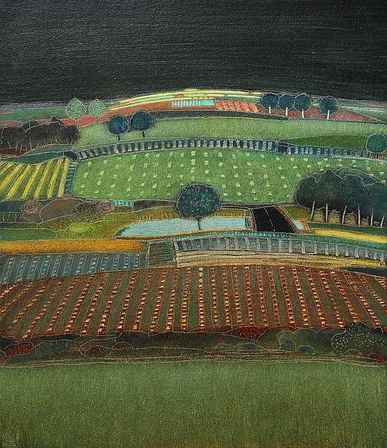 670- Summer nights-070x60cm   Landscape by Rob van Hoek
