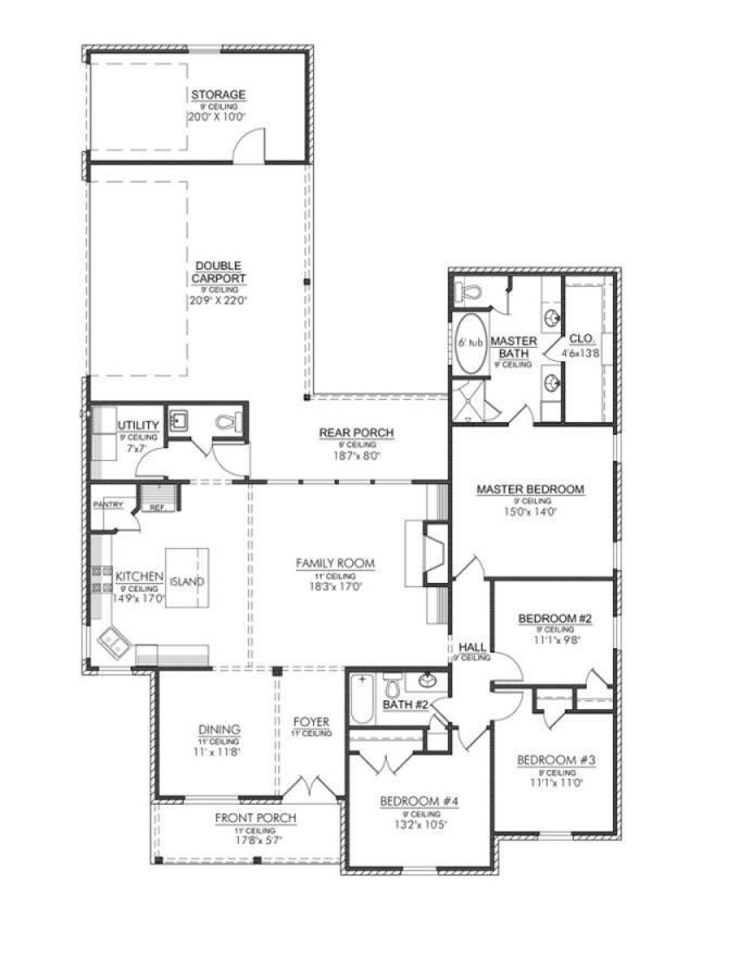 Our Favorite Have To Configure Bedrooms To Make Dual Masters 653346 Narrow Lot Acadian Home
