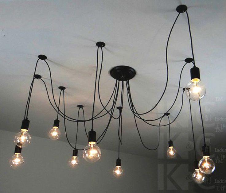 Vintage Edison Pendant Ceiling Lights Chandelier Modern Chic Industrial Dining | eBay