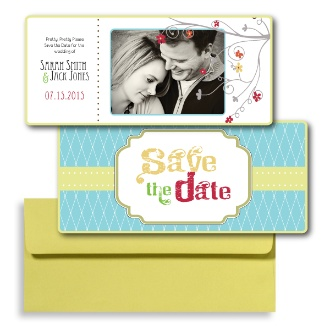 Teal Save the Dates, Green Save the Dates, Photo Save the Dates