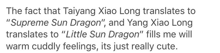 THAT'S WHY TAI CALLED HER HIS LITTLE SUN DRAGON IN THE NEWEST EPISODE OH MY GAAAAWWWWWSSSHHHH