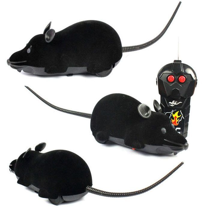 RC Remote Controller Simulation Plush Mouse Mice Kid Toy Gift