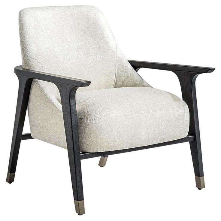Adriana Hoyos Ten Modern Classic Ivory Linen Black Wood ...