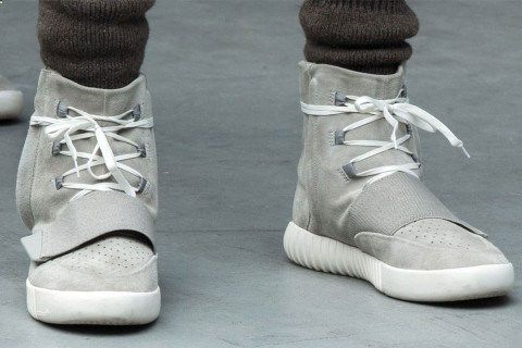 Watch Kanye Wests Reaction to Trying on His First Pair of the adidas Yeezy 750 Boost | Highsnobiety