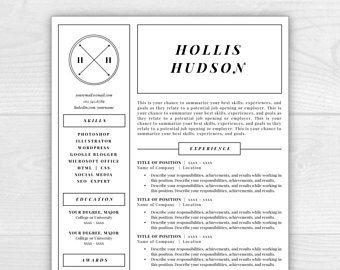 Monogram Resume Template, Professional Resume, Free Resume Template, Resume  Design, Resume Template