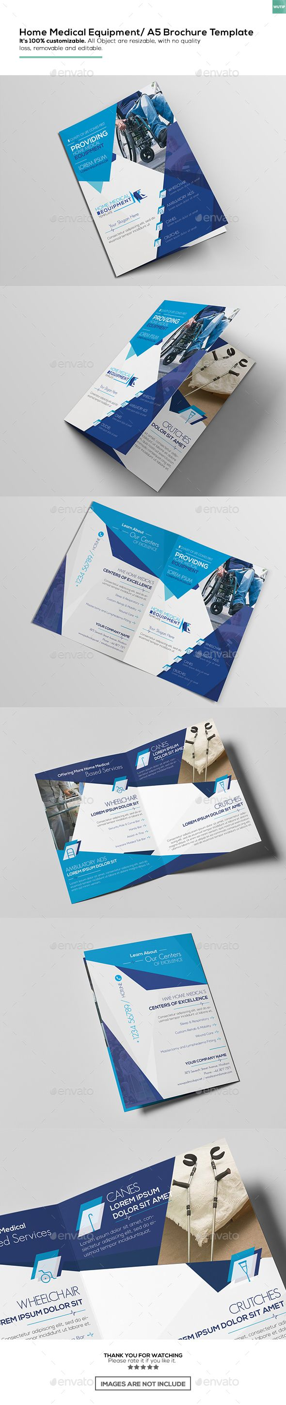 Home Medical Equipment/ A5 Brochure Design Template - Corporate Brochure Template PSD. Download here: http://graphicriver.net/item/home-medical-equipment-a5-brochure-template/16895854?s_rank=69&ref=yinkira