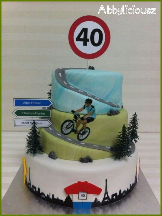 Road Bike Cake Decoration : 8 best images about Cycling Birthday on Pinterest