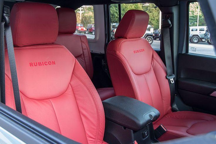 Katzkin Leather Jeep Wrangler JK Seats Red with Rubicon Logo $945