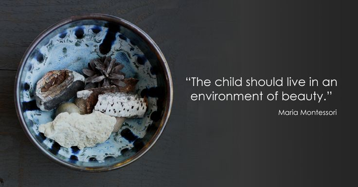 """""""The child should live in an environment of beauty."""" -Maria Montessori *love this quote"""
