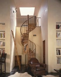 """An Old circular staircase I found in the Paris flea market"" Rose Tarlow Library Living Staircase TraditionalNeoclassical French Provincial Transitional by Rose Tarlow Melrose House"