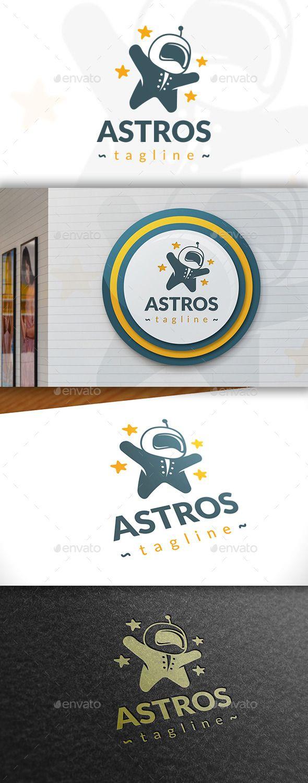 Astronaut Logo Design Template Vector #logotype Download it here: http://graphicriver.net/item/astronaut-logo-template/11408565?s_rank=1494?ref=nesto