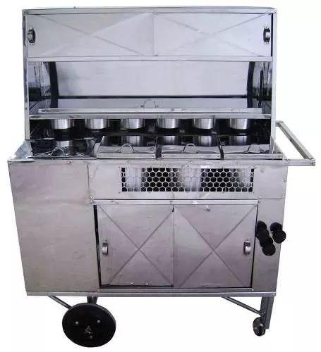 carrinho de cachorro quente hot-dog lanches *