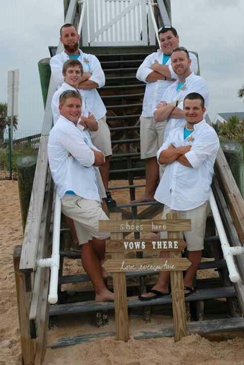 Groom and groomsmen #beach#wedding#5.11.13