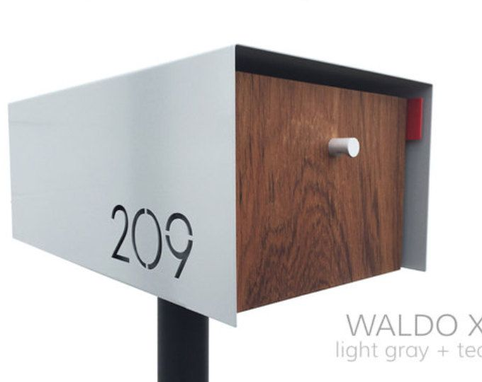 ***PRODUCT DESCRIPTION***  Our Dexter Custom mailbox is made of heavy, 3/16 thick steel, and allows you to customize the mailbox with your house numbers, using our clean, modern font. Please scroll through the pictures above to see the dimensions. PLEASE NOTE: we are only able to offer customization with your house numbers; unfortunately, we cannot do last names or other words on the mailbox.  We also offer two types of steel posts for mounting - please choose from the dropdown menu when...
