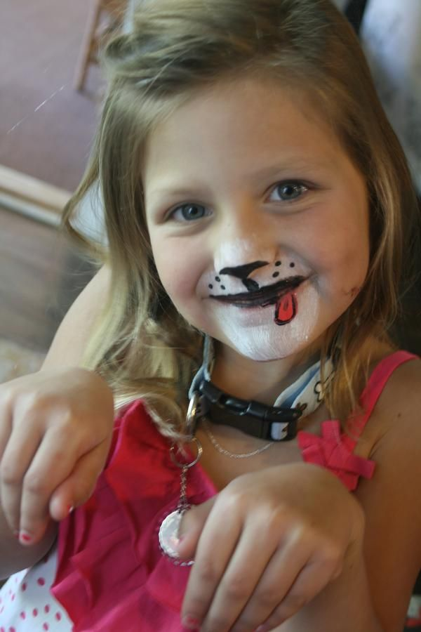 face painting malia bday puppy party paw patrol