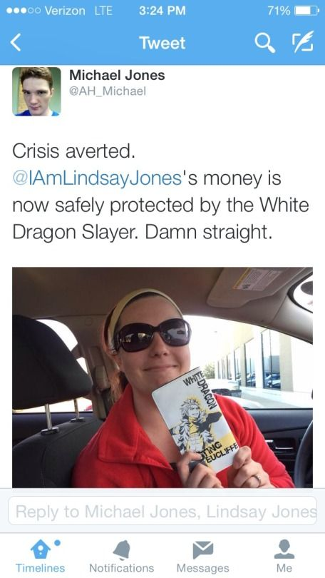 Lindsay's new wallet