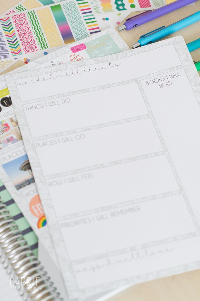 Printable Vision Board Template