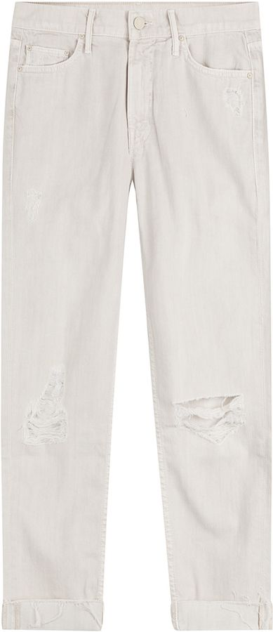 Mother The Dropout Slouchy Distressed Jeans